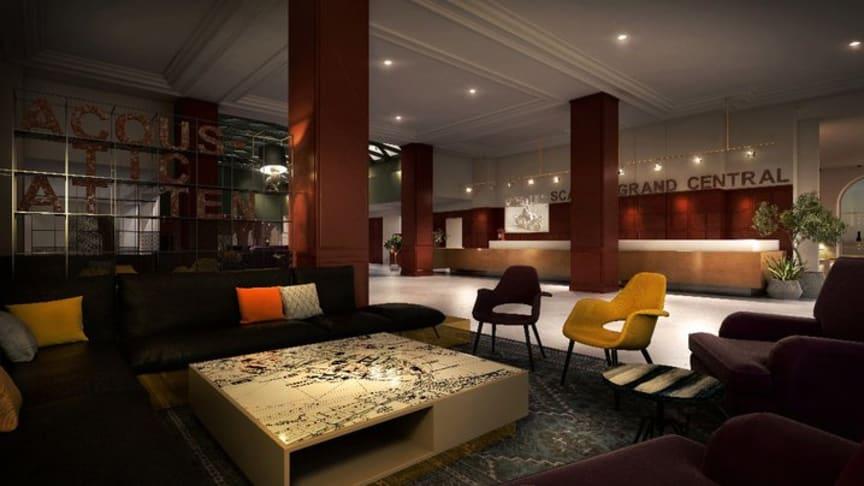 Scandic Grand Central i centrala Stockholm är hotellkedjans nya livsstilssatsning