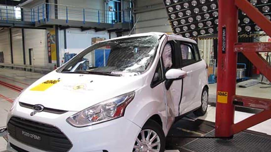 Nya Ford B-MAX får maxbetyget 5 stjärnor i Euro NCAP:s säkerhetstest