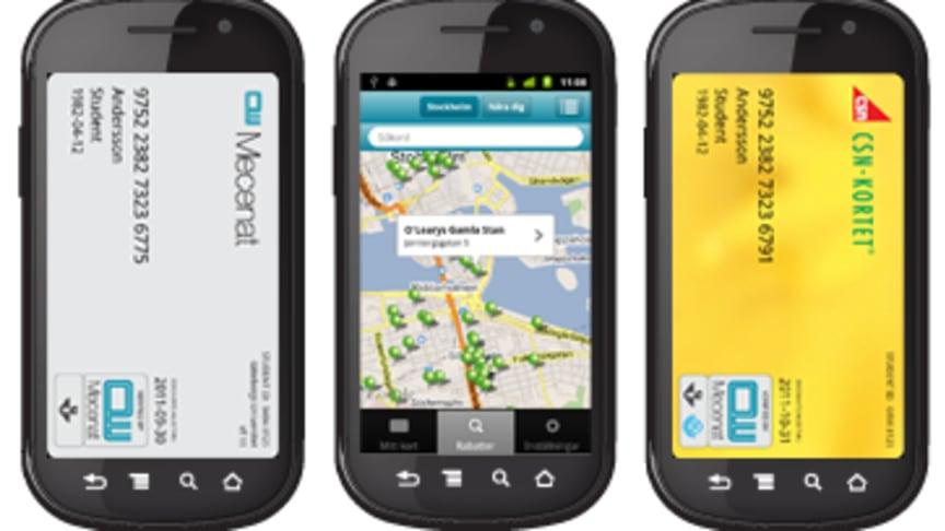 CSN-kortet och Mecenatkortet i mobilen – nu också för Android-telefoner