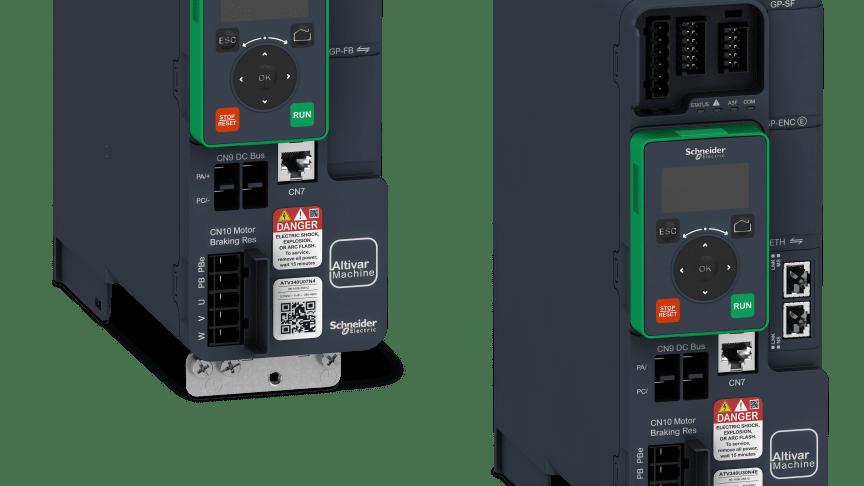 Schneider Electric introducerer Altivar Machine ATV340 med avancerede funktioner til motorkontrol og deling af overskydende strøm på DC-bus