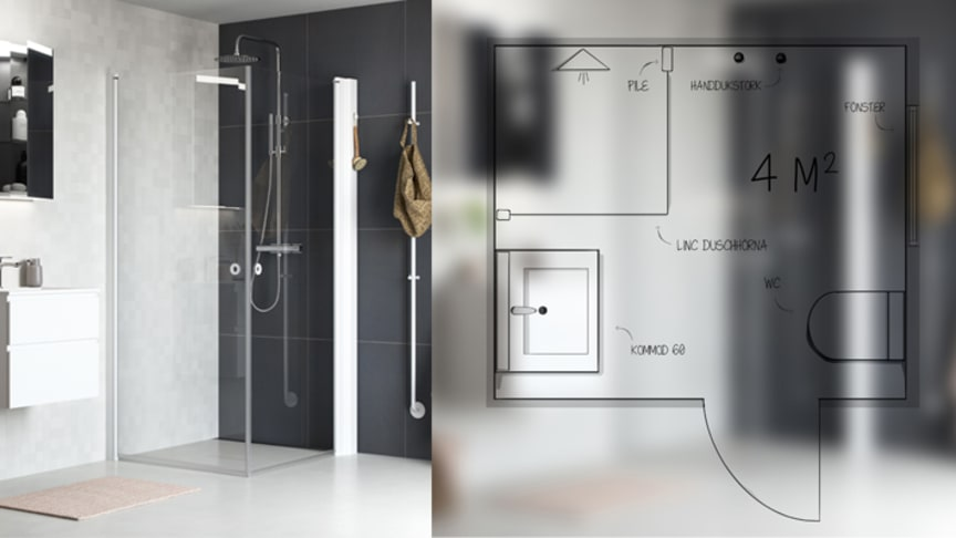 Så planerar du ett snyggt och praktiskt badrum med maximalt utnyttjande av golvytan