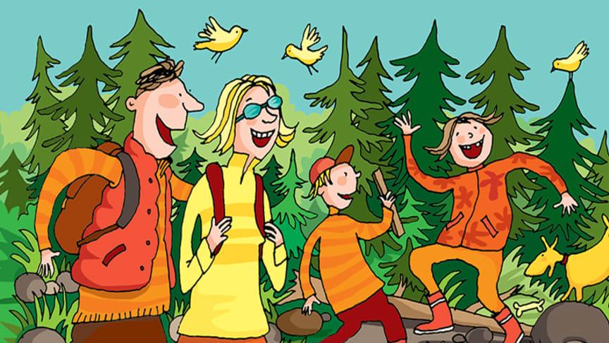 Perhe metsässä
