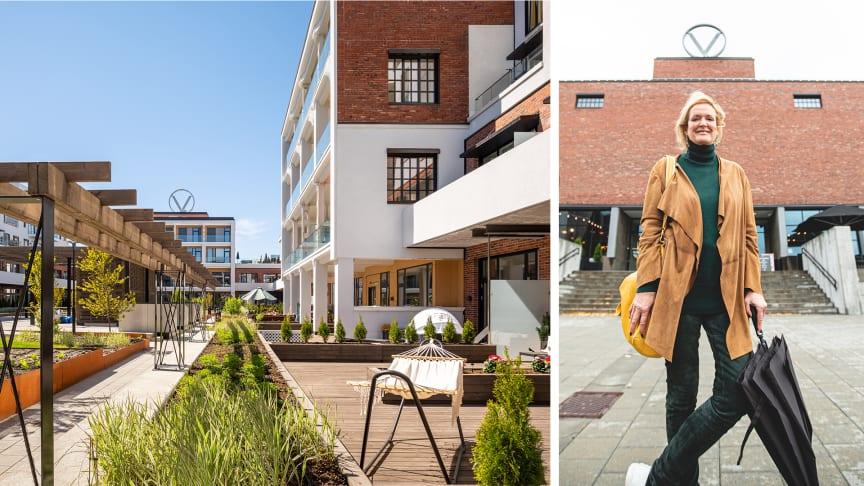 Det er Höegh Eiendom og Profier som står bak prosjektet, som er tegnet av Kristin Jarmund Arkitekter AS.