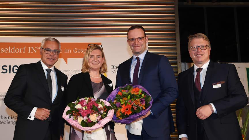 Ulrich Sommer, Eva Quadbeck (Rheinische Post). Jens Spahn, Jörg Philippi-Gerle (Rheinische Post) (v.l.) Foto: Violetta Odenthal