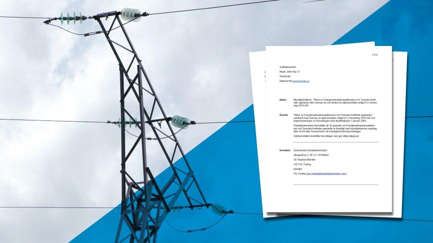 Sydsvenska handelskammaren JK-anmäler om elpriserna