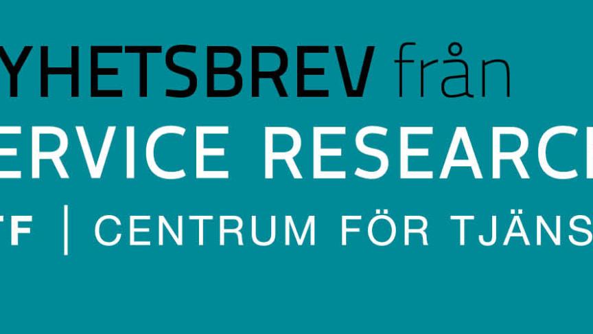 Nyhetsbrev nr 4, 2019, från CTF, Centrum för tjänsteforskning vid Karlstads universitet
