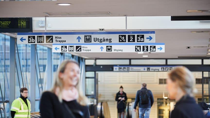 Västerås station. Foto: Pia Nordlander