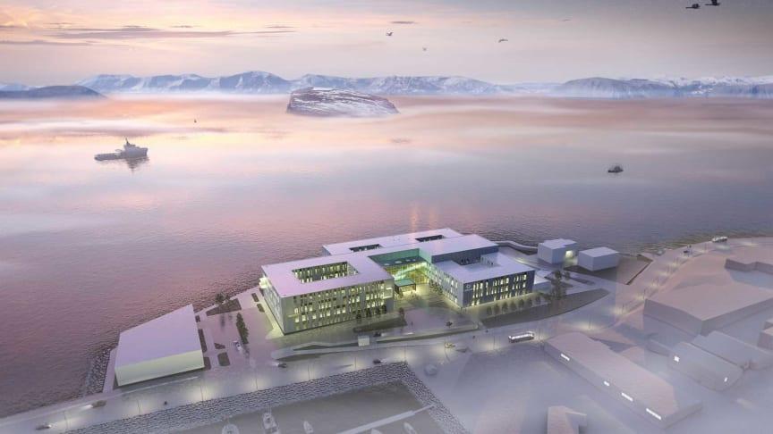 Hammerfest sykehus | Illustrasjon: LINK arkitektur