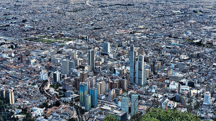 Bird's eye view of Bogotá: Colombia is Latin America's fourth largest pharmaceutical market after Brazil, Mexico and Panama. (Photo by raulplatino, pixabay)