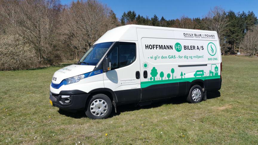 Den grønne, biogasdrevede IVECO Daily til Silkeborg Kommune
