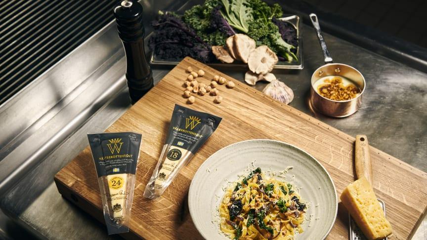 Västerbottensost lanserar svensk, smakrik, matlagningsost med längre lagringstid.