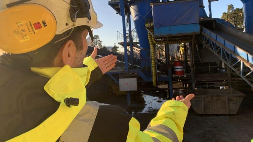 Pär Johnsson, Platschef Kuusakoski berättar om invsteringar och förbättringar på plats i Gävle hamn