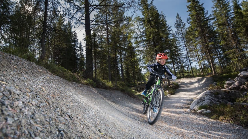 Test virtuell stisykling i Trysil Bike Arena