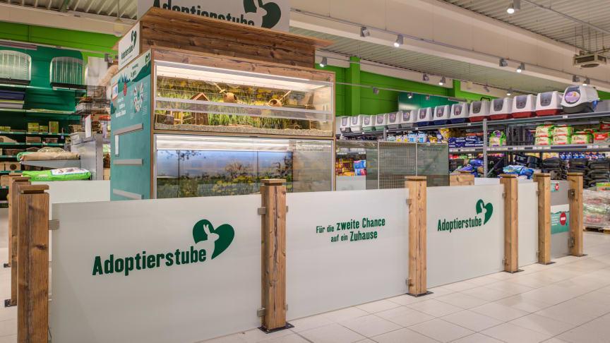 Die Adoptierstube im Fressnapf-Markt Hockenheim. Foto: Fressnapf Holding SE/
