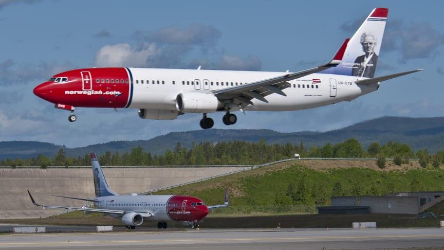 Nytt passagerarrekord och starka trafiktal för Norwegian