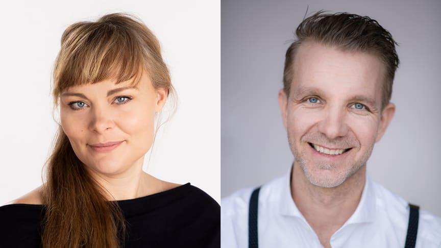 Lisa Svensson, verksamhetschef, och Daniel Jonlund, regionchef, på Folkuniversitetet som har fått förtroendet att bedriva vuxenutbildning i Eda kommun. Foto: Harald Nilsson
