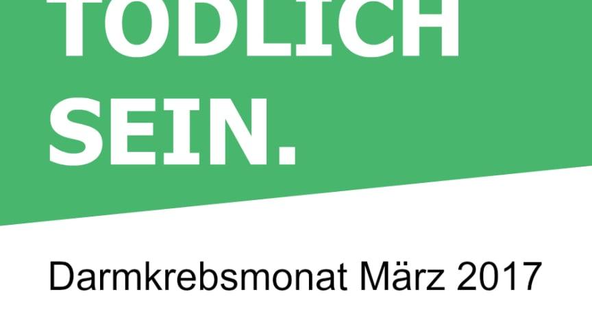 Logo Darmkrebsmonat März 2017 Grün