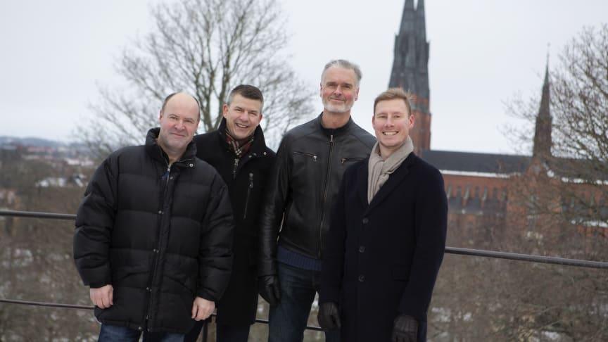 Med gasen i botten i Uppsala: (från vänster) Patrik Larsson, Eje Thorararinsson, Kristján Jónsson och Fredrik Sjöberg