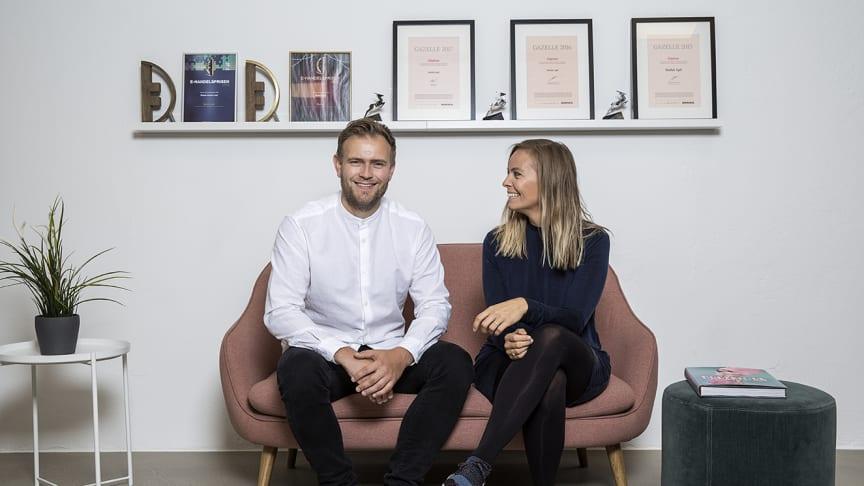Tonny Andersen og Mathilde Mackowski var kærester, da de stiftede Sinful for 10 år siden.