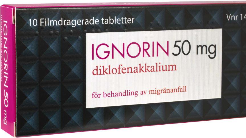 Ignorin (diklofenakkalium 50 mg) 10 st tabletter