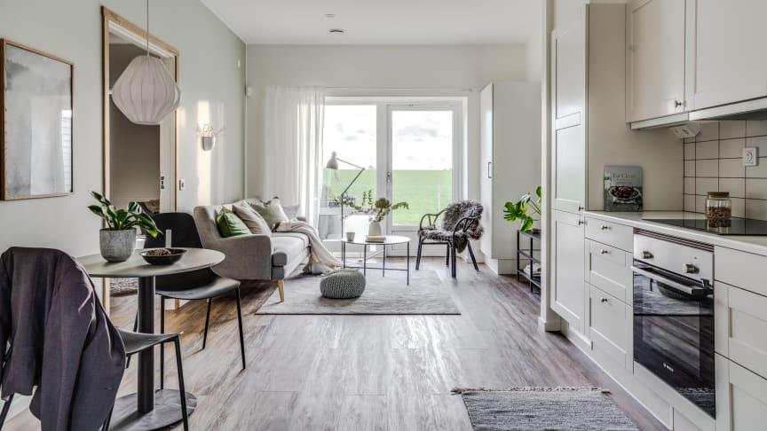 Exempelbild på hur boendet kan komma att se ut. Detta är från en lägenhet i Lund.