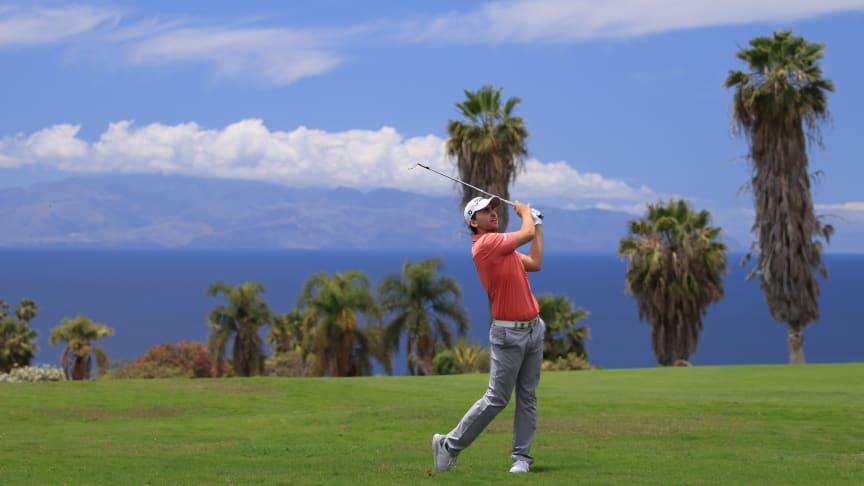Den tyska golfspelaren Nicolai von Dellingshausen under Tenerife Open 2021 på Kanarieöarna. Foto: Canary Island Tourism.