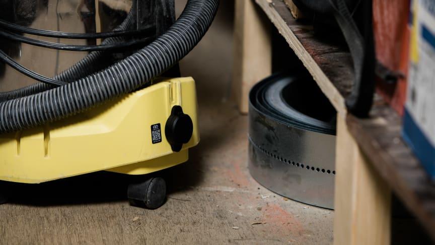 QR-koden och Bluetooth-sändaren kan användas i kombination på utrustningen