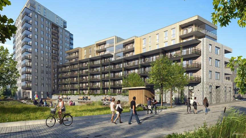 Riksbyggen bygger 99 lägenheter i en fjärde etapp Kungälv