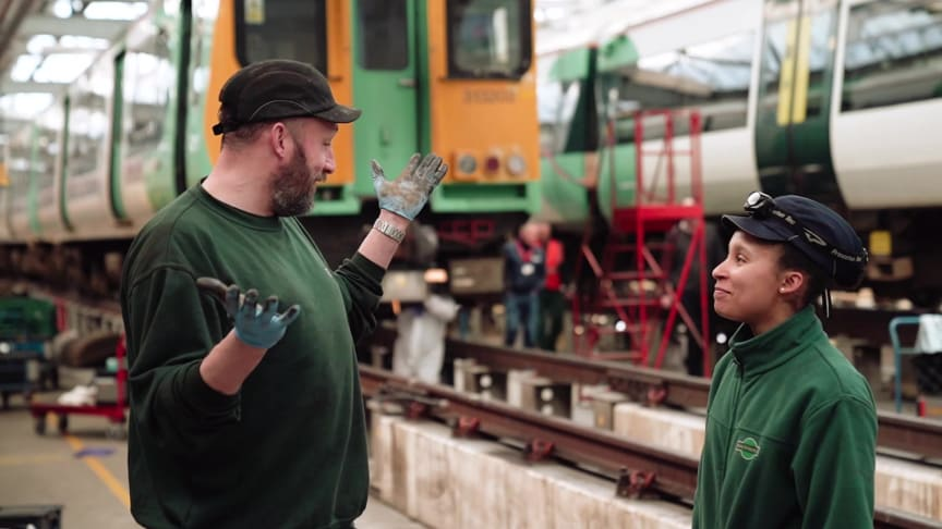 Apprentice Engineer, Twinkle Clarke, discussing her career experience