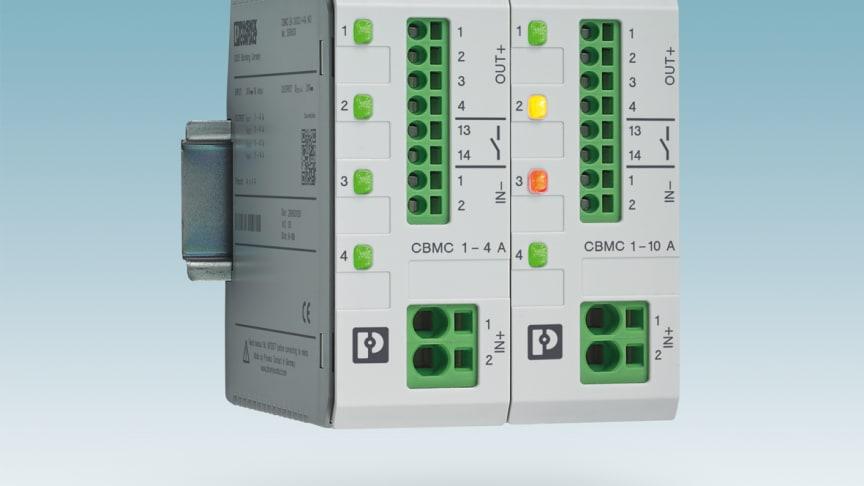4-kanalig Säkringsmoduli 1-10A samt 1-4 A med NEC Class 2 (UL NEC2) godkännande från Phoenix Contact