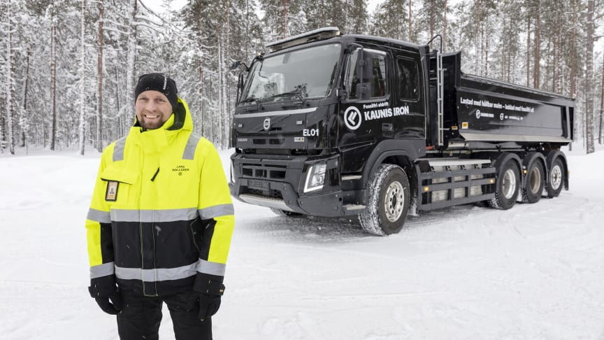Lars Wallgren, Kaunis Iron med en eldriven lastbil