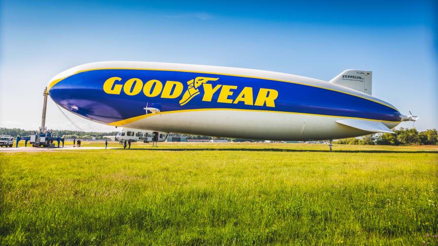 Goodyear Blimp -ilmalaiva palaa moottoriurheilutapahtumiin Euroopassa