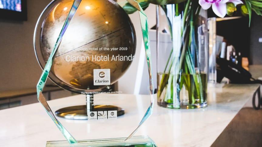 """Clarion Hotel Arlanda Airport är vinnare av Nordic Choice Hotels """"Clarion Hotel of the Year 2019"""""""