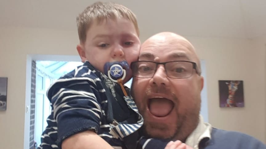 Jensen Norris with his Dad, Lee Norris