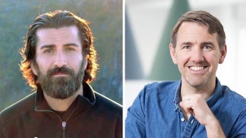 EdAiders vd Jalal Nouri och AcadeMedias EdTechchef Anders Haesert