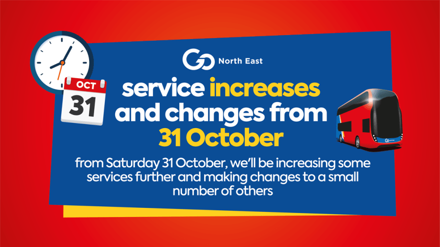 Service increases and changes from 31 October