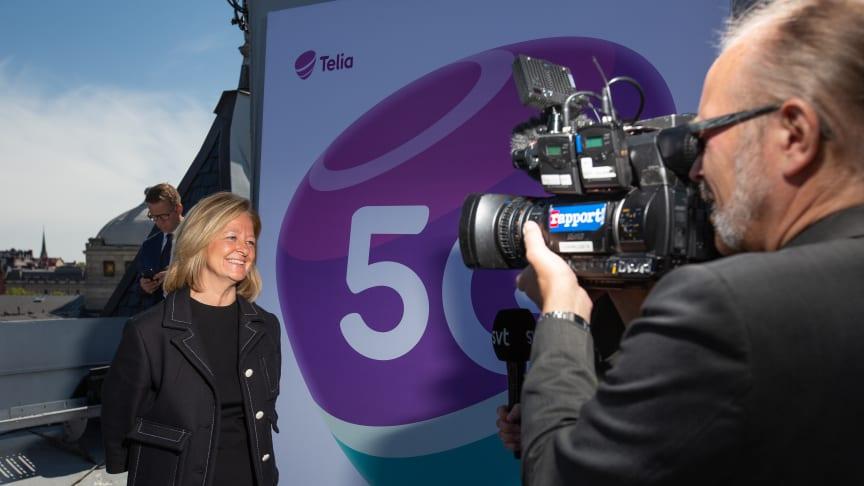 Allison Kirkby, vd Telia Company på invigningen av 5G i Stockholm i maj 2020