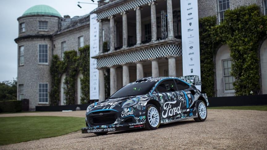 Ford og M-Sport introduserer den nye rallybilen Puma Rally1 som ladbar hybrid