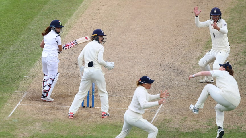 England tried to force wickets but India held on. Photo: Getty Images
