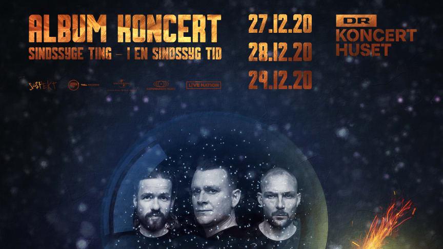 Suspekt spiller tre koncerter i DR Koncerthuset, Koncertsalen mellem jul og nytår