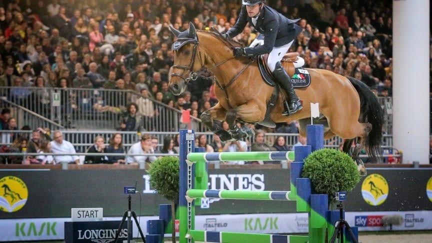Darragh Kenny, världscuptvåa i Verona nyligen, kommer till Sweden International Horse Show. Foto: FEI/Massimo Argenziano