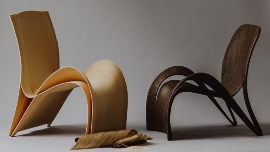 Fleen Design, stolar. Malin Fleens examensarbete på HDK Göteborgs Universitet. Foto: Natalie Greppi