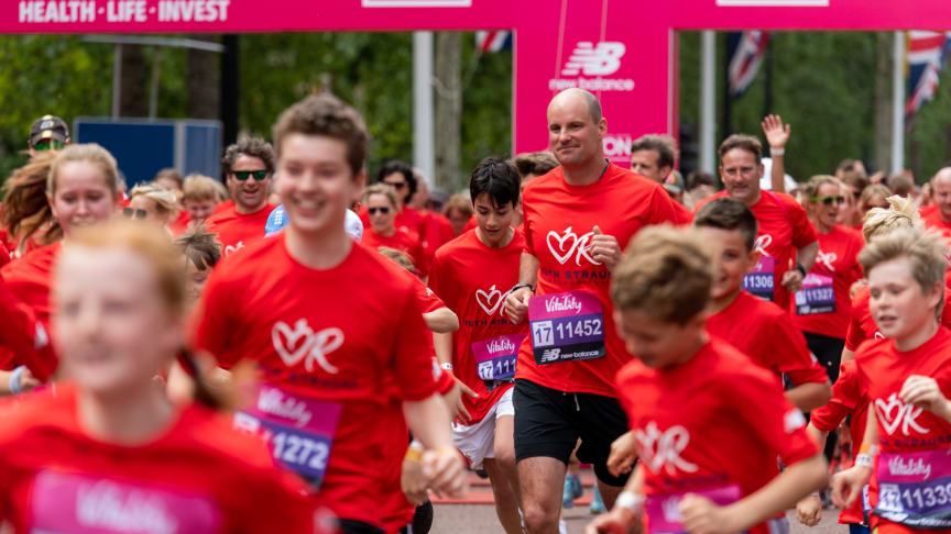 Andrew Strauss taking part in the Vitality Westminster Mile - the inaugural event for the Ruth Strauss Foundation