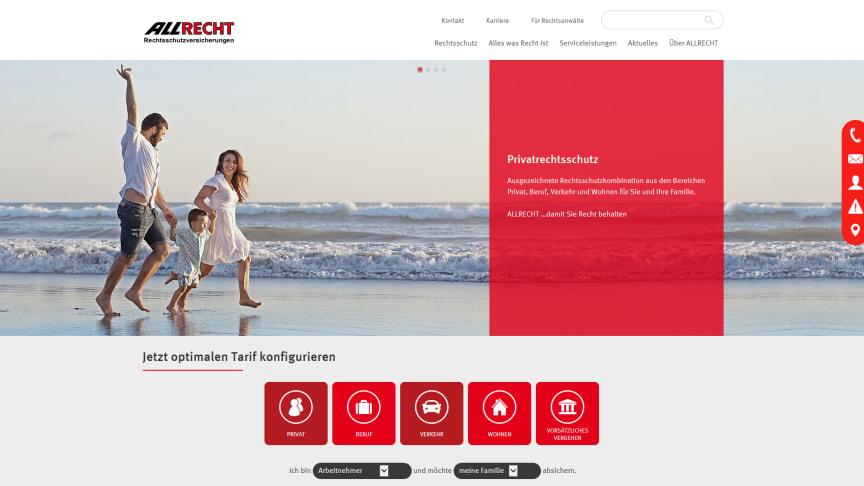 Neuer Look, erweitertes digitales Angebot: die überarbeitete Webseite der ALLRECHT