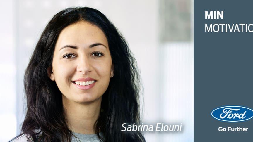 Min motivation: Et portræt af Sabrina Elouni, Parts Supply & Distribution Coordinator hos Ford Danmark