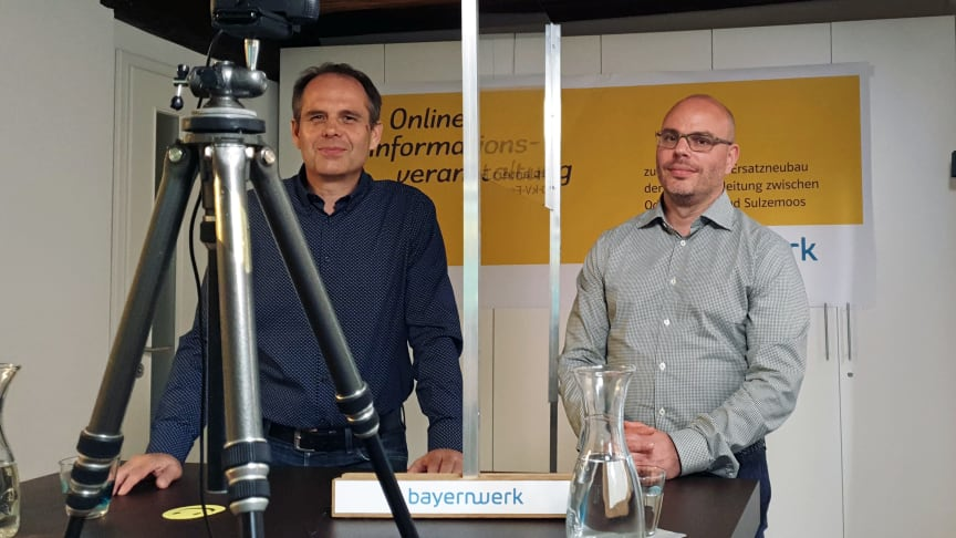 Genehmigungsmanager Peter Hilburger (l.) und Projektleiter Christian Herzig haben bei einer Online-Veranstaltung über die geplante Leitungsertüchtigung im Landkreis Dachau informiert.