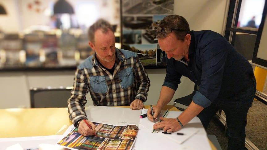 Ansvariga arkitekter Anders Börthas och Simon Scheiwiller