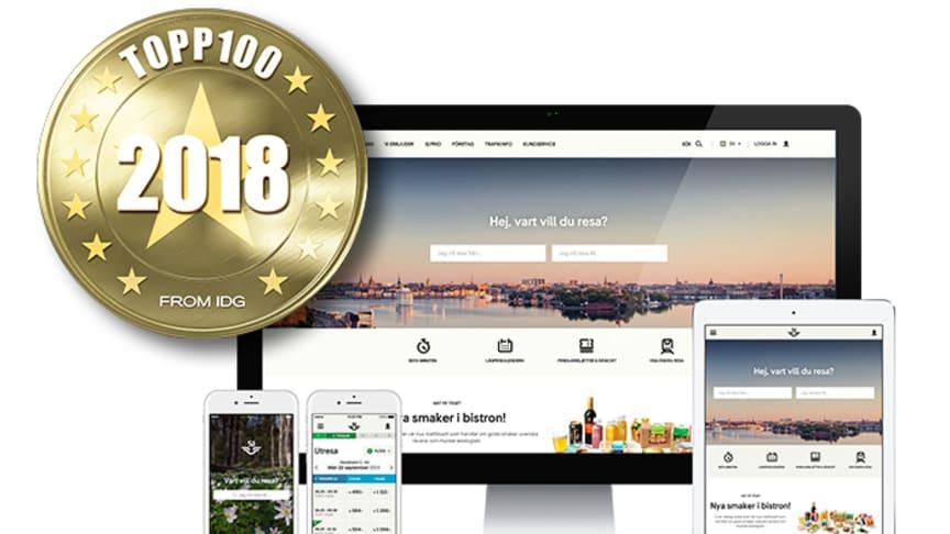 SJs webbsajt och app har av IDG/Internetworld utsetts till Sveriges bästa