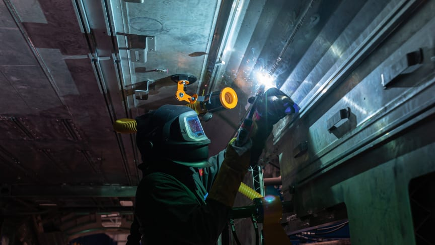 Hitachi Rail starts welding brand new British trains as investment in North East factory reaches £110m
