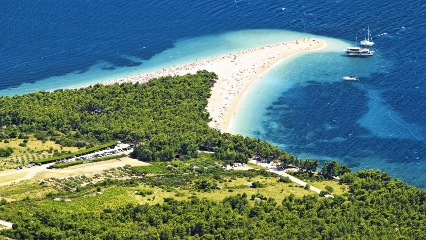 Brac, jossa Zlatni Rat on yksi ehdottommasti parhaimmista rannoista
